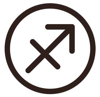射手座(いてざ)のシンボルマーク