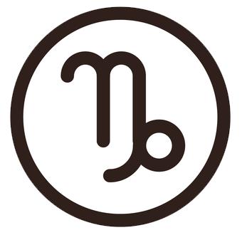 山羊座(やぎざ)のシンボルマーク
