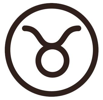 牡牛座(おうしざ)のシンボルマーク