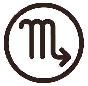 蠍座(さそりざ)のシンボルマーク